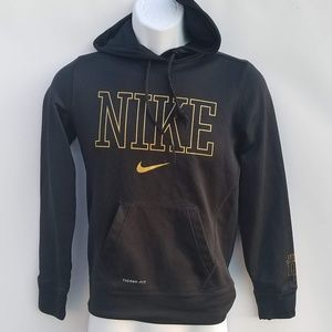 Nike Therma-Fit hoodie Youth XS black / Gold